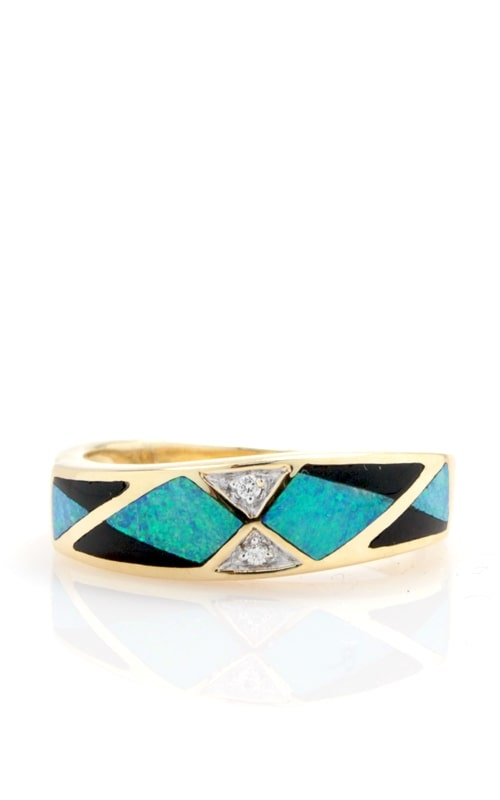 Asch Grossbardt 14K Diamond, Opal, & Onyx Ring RB1239 product image