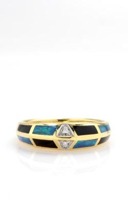 Asch Grossbardt 14K Yellow Gold Diamond, Opal, & Onyx Ring DGASH00414 product image