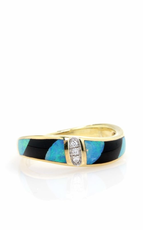 Asch Grossbardt 14K Diamond, Opal, & Onyx Ring RB1247 product image