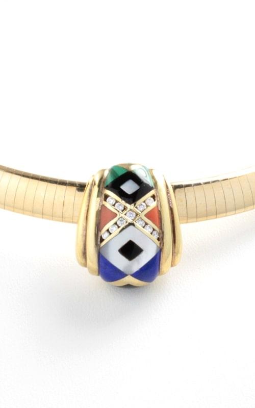 14K Diamond & Multicolor Slide Pendant with Diamonds product image