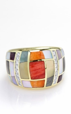 Asch Grossbardt 14K Diamond & Multi-Color Ring, Style RB1461SP product image