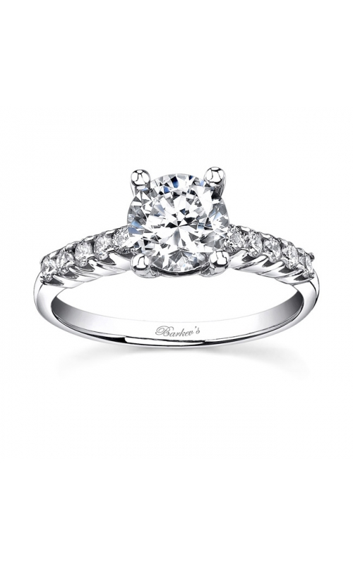 Barkev's White Gold Engagement Ring #7536L product image