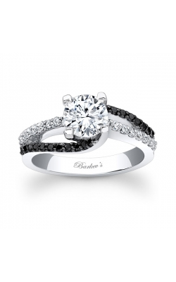 Barkev's Black Diamond Engagement Ring #7677LBK product image
