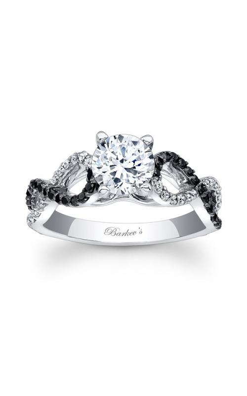 Barkev's Black Diamond Engagement Ring #7714LBK product image