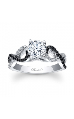 Barkev's Black Diamond Engagement Ring #7714LBK product image