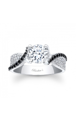 Barkev's Black Diamond Engagement Ring #7881LBK product image