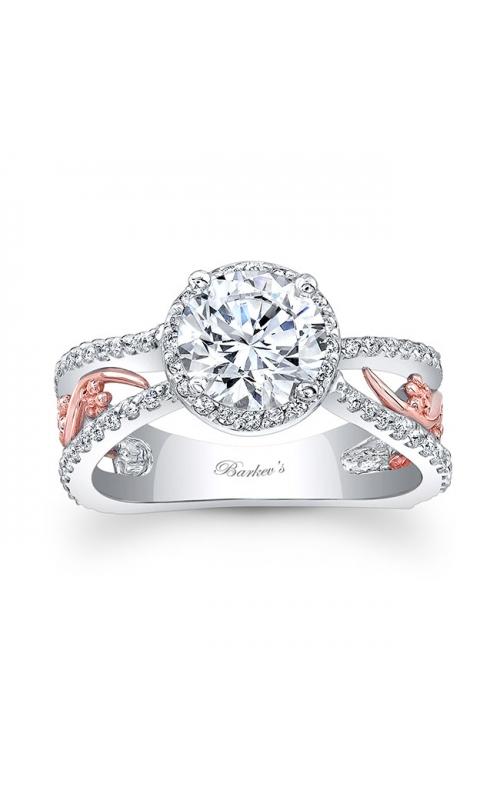 Barkev's White & Rose Gold Engagement Ring #7885LT product image