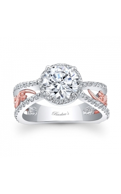 Barkev's White & Rose Gold Engagement Ring #7885LT product image