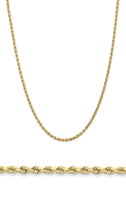 14K 3.2mm Diamond Cut Rope Chain 023L product image