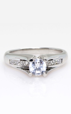 Platinum Floating Center Engagement Ring #287805 product image