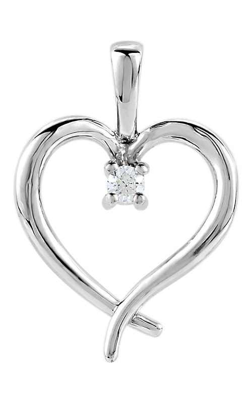 14K Gold Heart Pendant #80030 product image