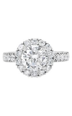 14K Two-Tone Vintage Style Diamond Halo Engagement Ring BARON00037-YW product image