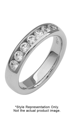 Platinum 11 Stone Channel Set Diamond Band, 1.30ct TW product image
