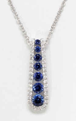 18K Diamond & Sapphire Pendant, Item# DPP05336 product image