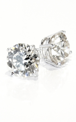 14K White Gold Diamond Stud Earrings, 5.11TW. Item# DERU202035 product image