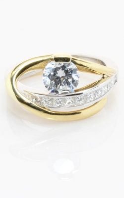 Modern Two-Tone Engagement Ring #CLOSE00430 product image