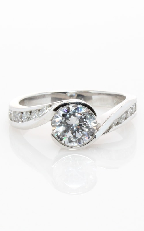 14K White Gold Engagement Ring #CLOSE00505 product image