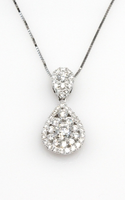 18K White Gold Diamond Pendant #DPHIF01045 product image