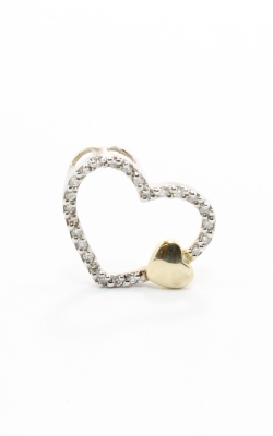 14K Two-Tone Diamond Heart Pendant #DPHRT03702 product image