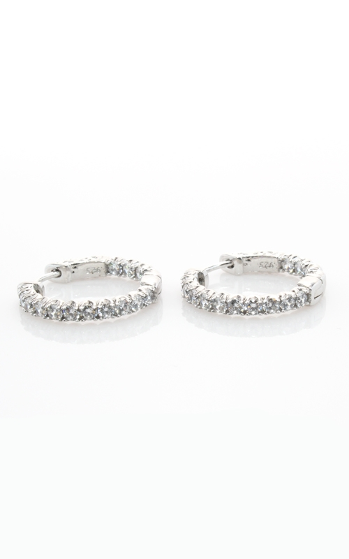 Silver CZ Hoop Earrings (Small) #SCZGT00992 product image