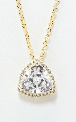 Yellow Silver Trilliant CZ Nceklace #SCGZT02115 product image