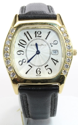 Austern & Paul 18K Yellow Gold Diamond Watch #WAG00046 product image
