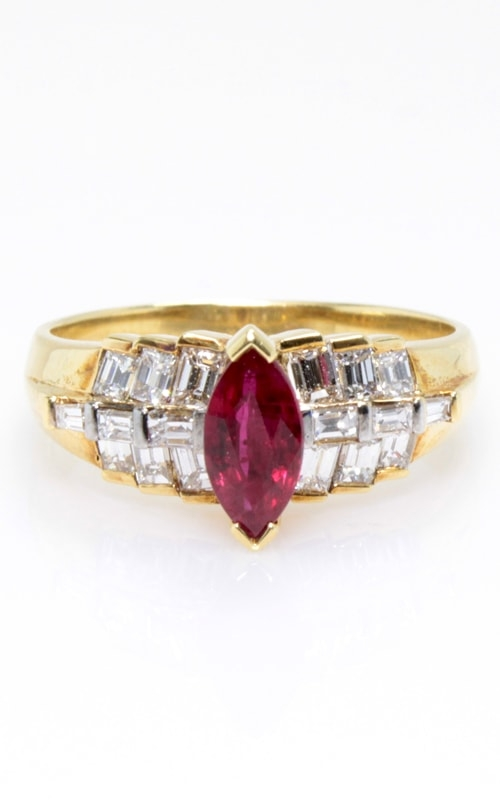 14K Ruby & Diamond Ring CLOSE00752 product image