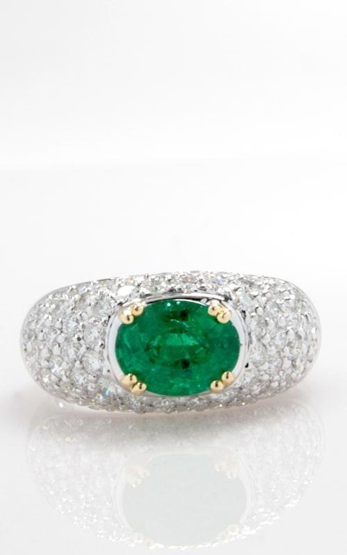 18K Diamond & Emerald Ring, CLOSE00786 product image