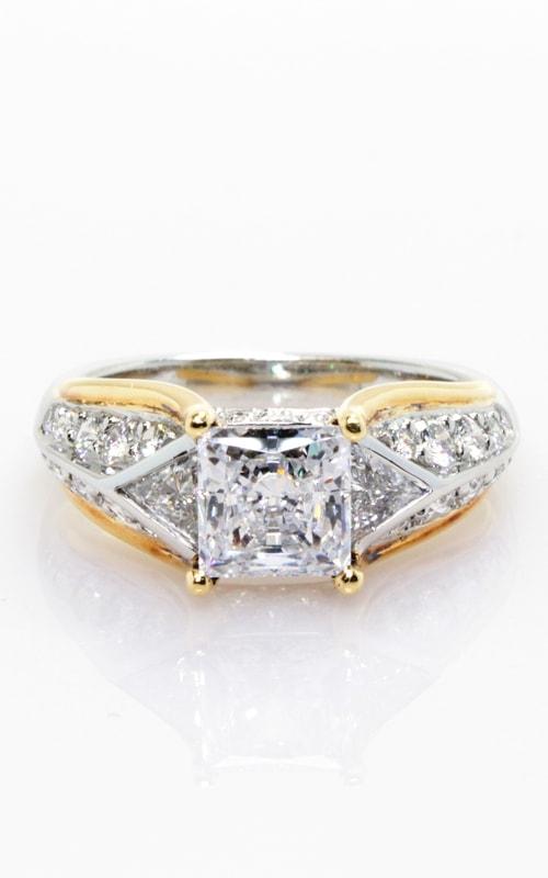 Platinum Two-Tone Engagement Ring #CLOSE01036 product image