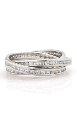 18K White Gold Rolling 3-Way Diamond Eternity Bands, CLOSE02213 product image