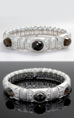 Gabriel & Co. Silver Smoky Quartz Bangle CLOSE02650 product image