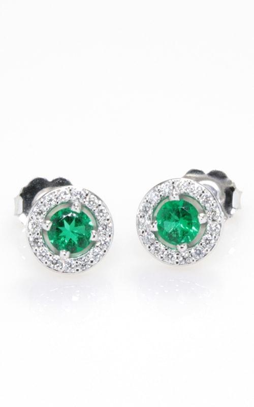 18K Diamond & Emerald Earrings DERP05096 product image