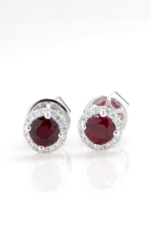 18K Diamond & Ruby Stud Earrings DERP05238 product image