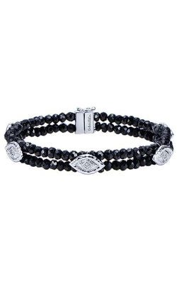 Gabriel & Co. Silver & Black Spinel Vintage Bead Bracelet, Style TB2937SV5BS  product image