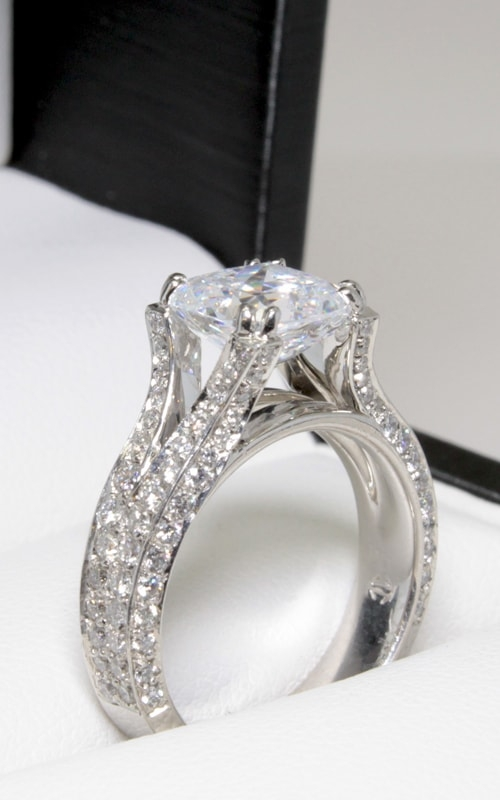 Platinum Diamond Engagement Ring #DGREN02954 product image