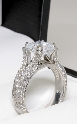 Platinum Sidestone Diamond Engagement Ring #DGREN02954 product image