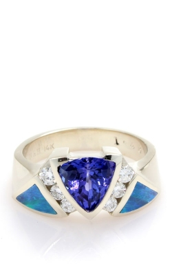 14K Tanzanite, Diamond, & Opal Ring DINRL00281 product image