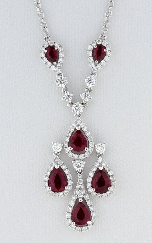 14K Diamond & Ruby Necklace, DNP00661 product image