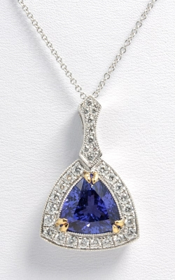 18K Two-Tone Gold, Diamond & Tanzanite Necklace DPEX01875 product image