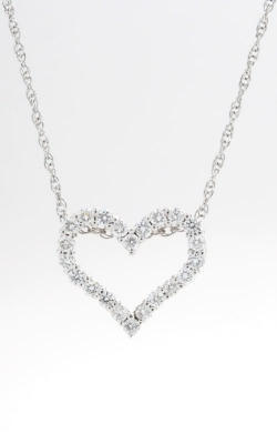 14K Diamond Open Heart Pendant with Chain, DPHRT04471 product image