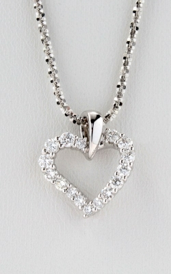 14K White Gold Diamond Twisted Heart Pendant, DPHRT01514 product image