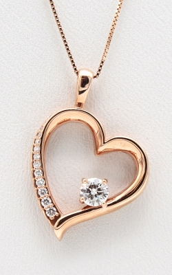 14K Rose Gold Off-Set Diamond Heart Pendant DPHRT04685 product image