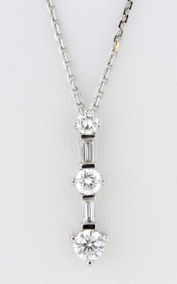 18K White Gold Diamond 3-Stone Drop Pendant, DPMD02026 product image