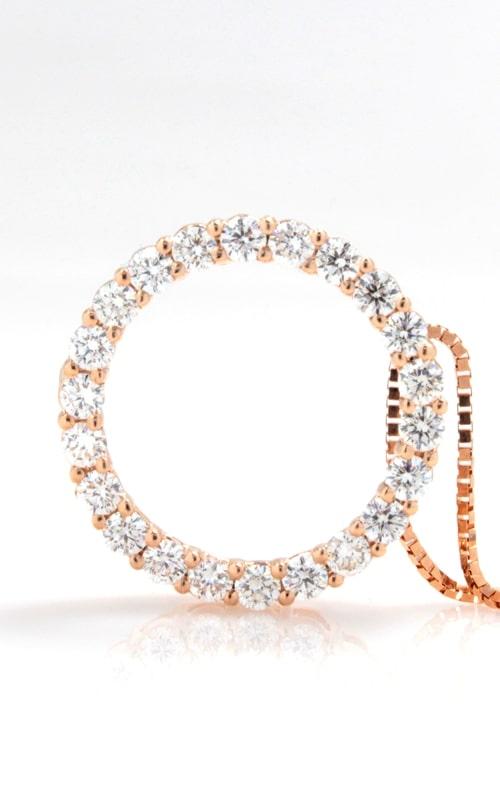 14K Rose Gold Diamond Circle Pendant DPMD05942 product image