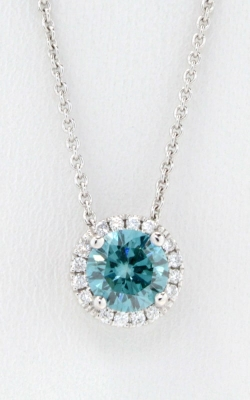 "Blue Diamond with Halo 18"" Necklace DPMD06344 product image"