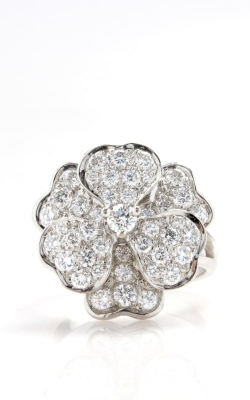 14K White Gold 1.50ct Diamond Flower Ring DRL4W02669 product image