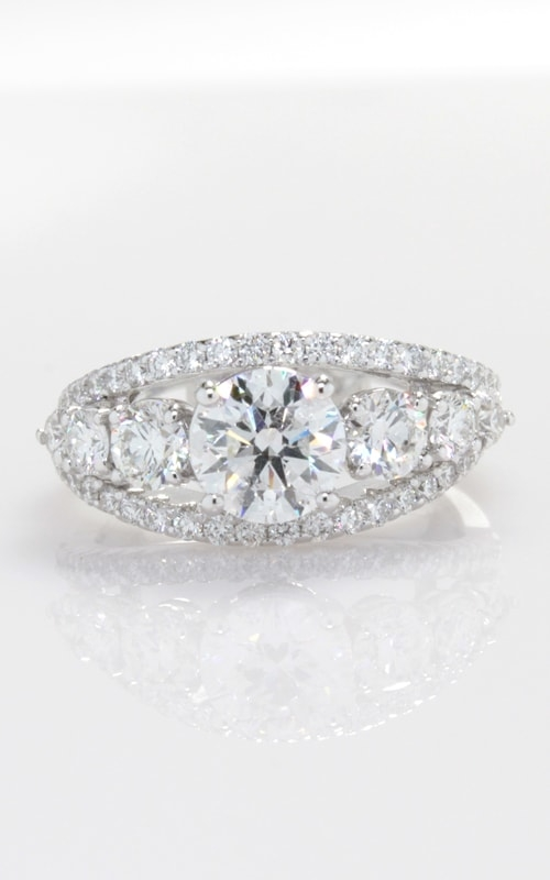 14K Split Shank Diamond Engagement Ring with Center DRL4W04355 product image