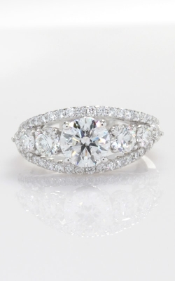 14K Split Shank Diamond Engagement Ring with EGL 1.08ct Center DRL4W04355 product image