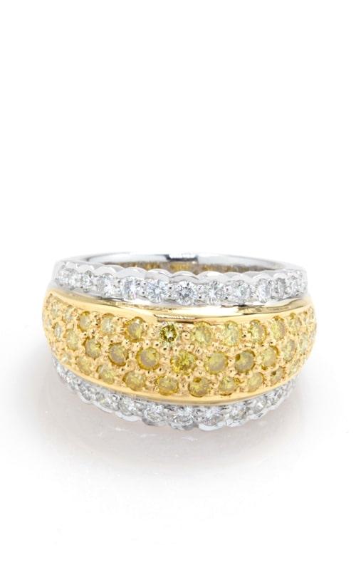 18K Two-Tone Yellow & White Diamond Ring product image