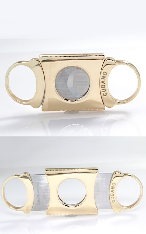 14K Yellow Gold Cubano Cigar Cutter, GOMS00380 product image